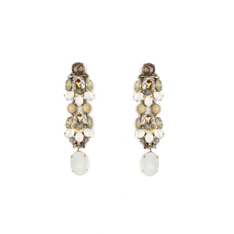 Crystal Garden Statement Earrings - Bankelok