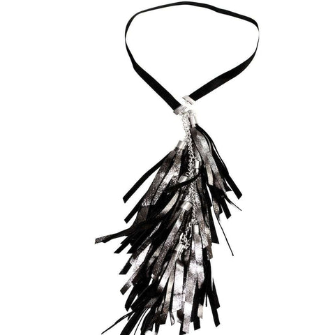 Silver Black Tassels Necklace - Bankelok - 1