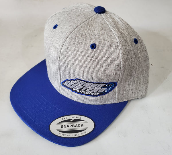 Grey/Blue Snap Back Flat Bill