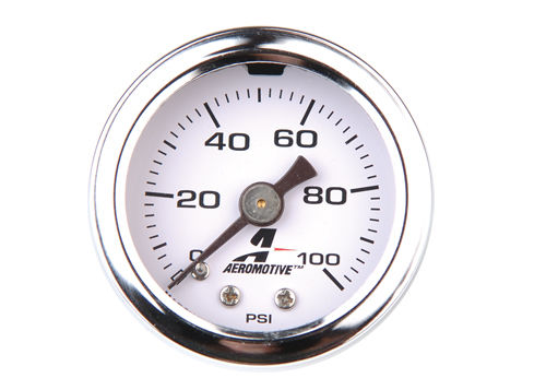Aeromotive 0-100 PSI Liquid Filled Fuel Pressure Gauge