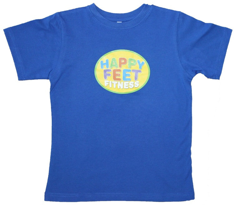 Happy Feet Fitness T-Shirt Blue