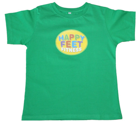 Happy Feet Fitness T-Shirt Green