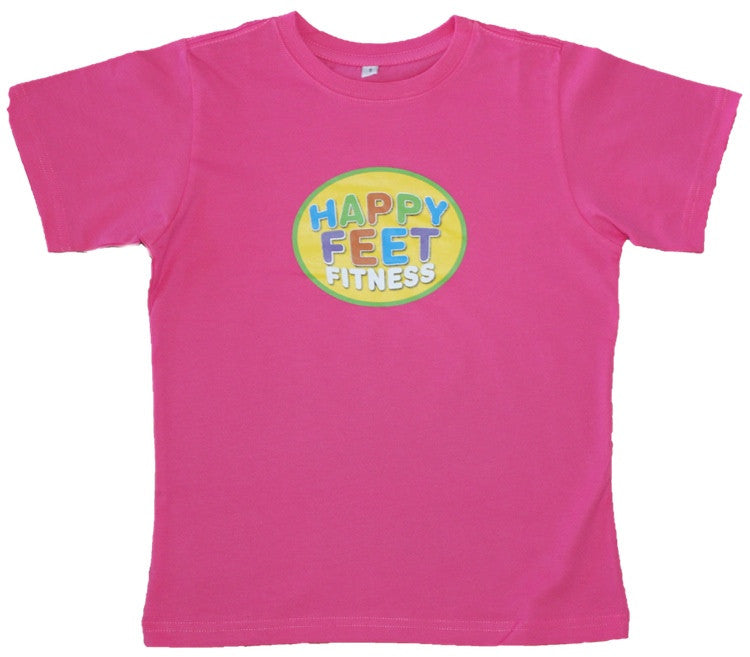 Happy Feet Fitness T-Shirt Pink