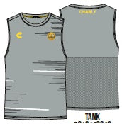 CHARLY DORADOS TRAINING TANK - GRAY 2019-2020