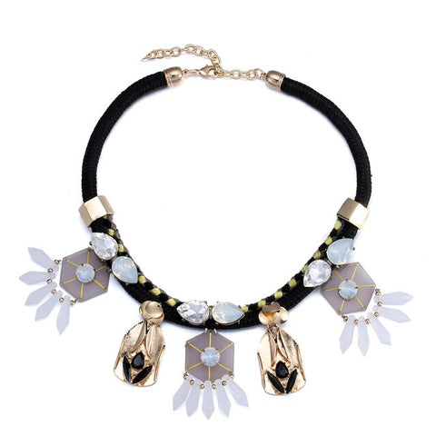 Multi Shape Collar Necklace