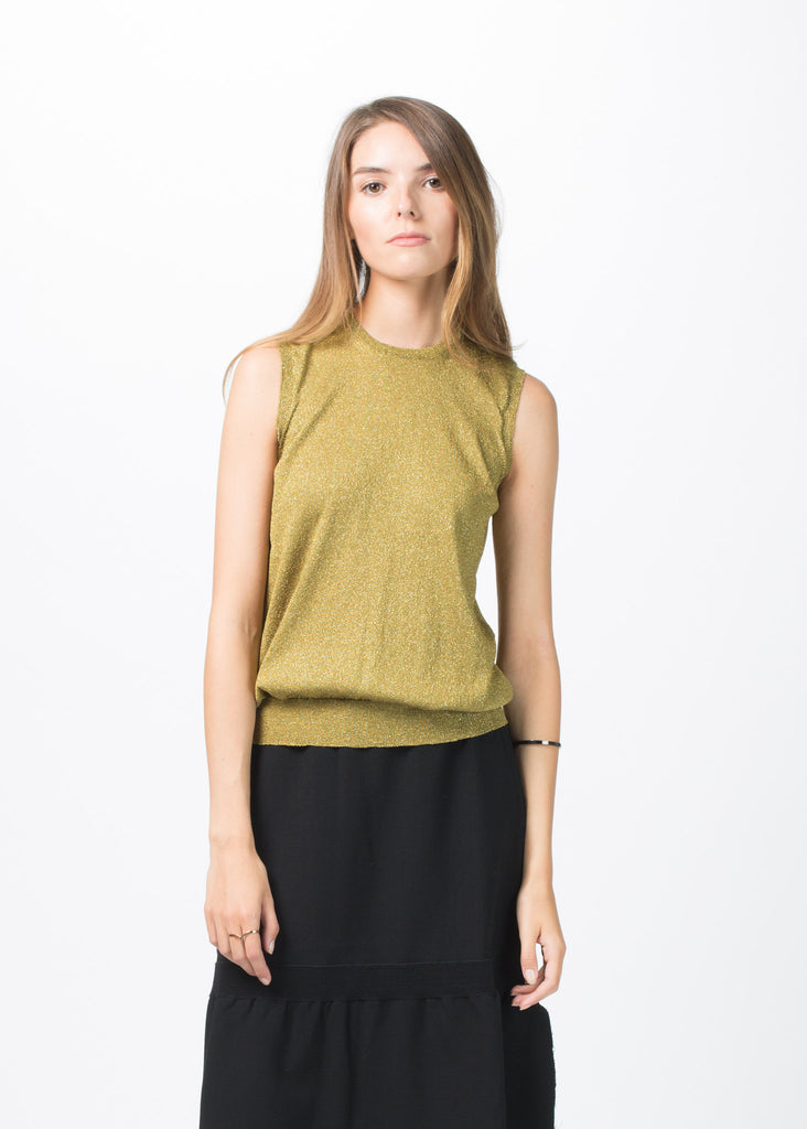 Knit Lurex Sleeveless Top
