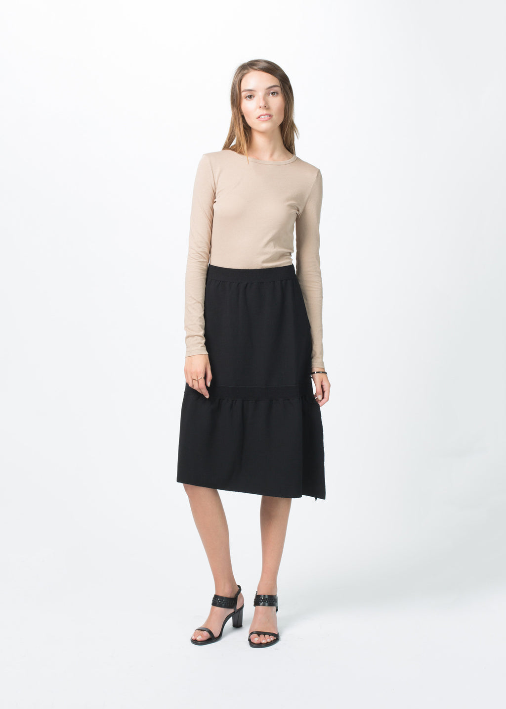 Stretch Crepe Skirt
