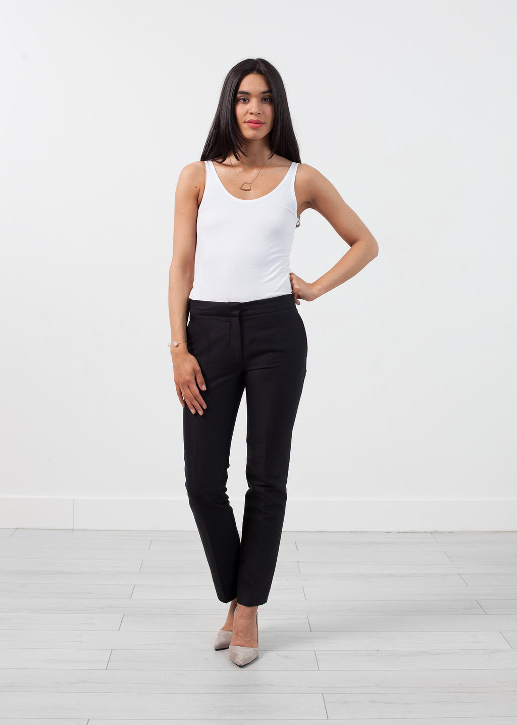 Ter et Bantine Straight Seam Trouser in Black