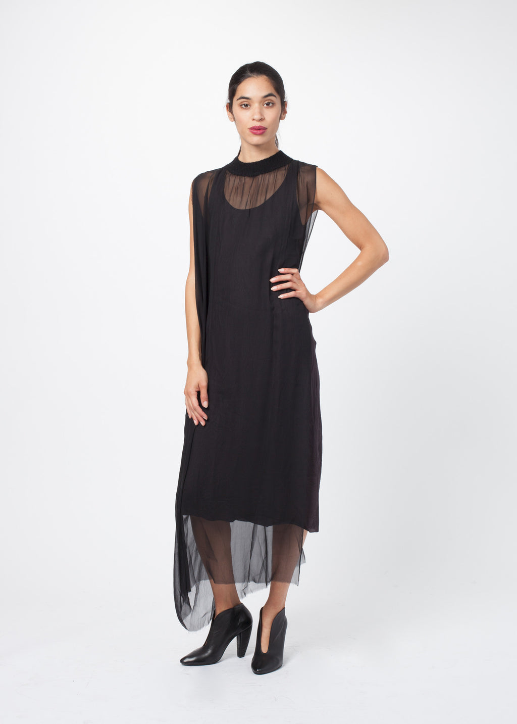 Chiffon Tabard Dress