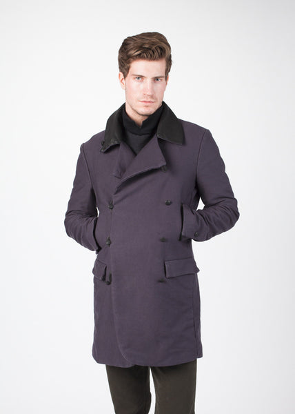 Taban Coat in Phantom
