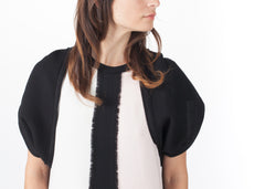 Wool Crepe Shrug