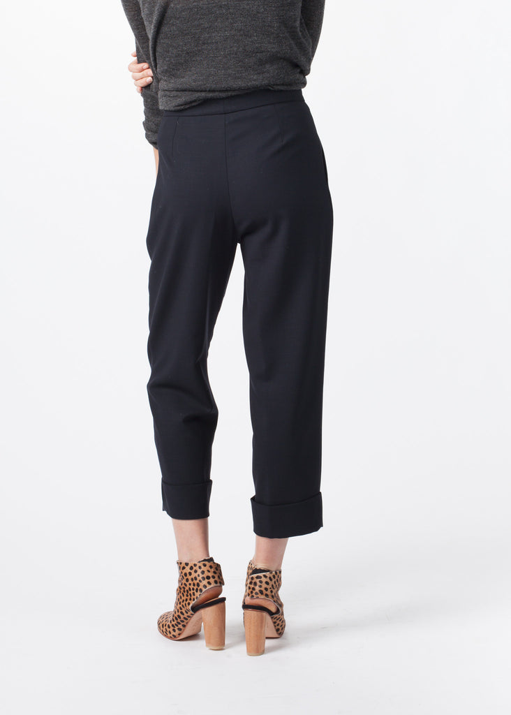 Pleated Cuff Trouser