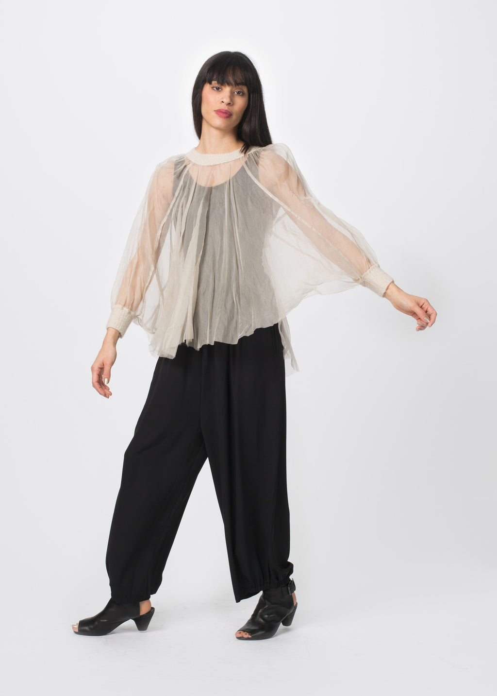 Cashmere Cape Top