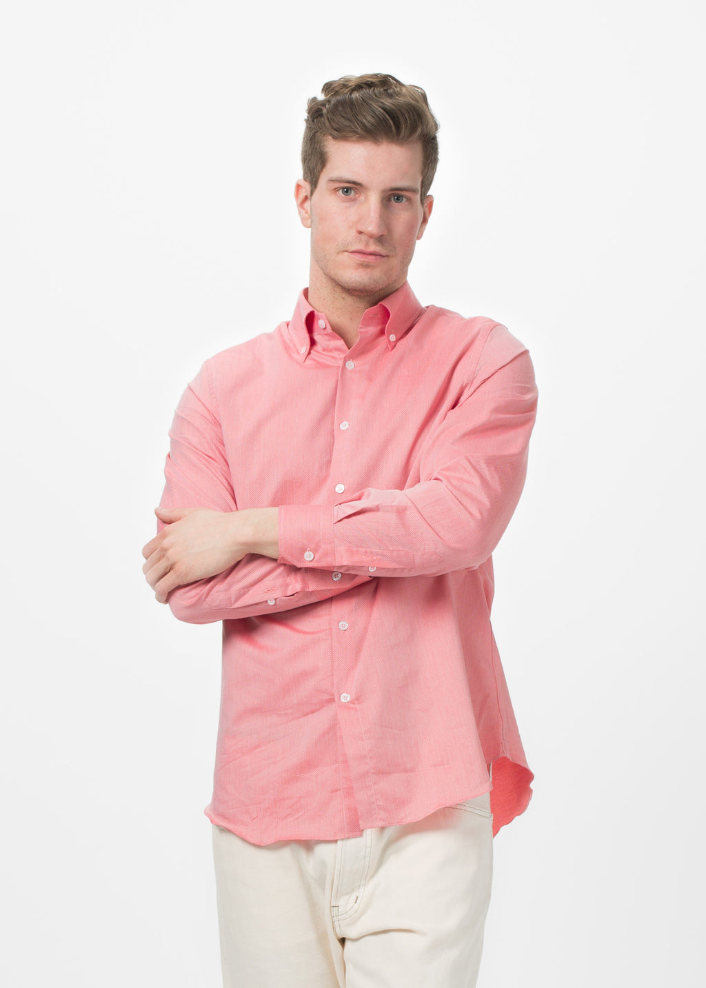 Shockoe Atelier Micro Check Button Down