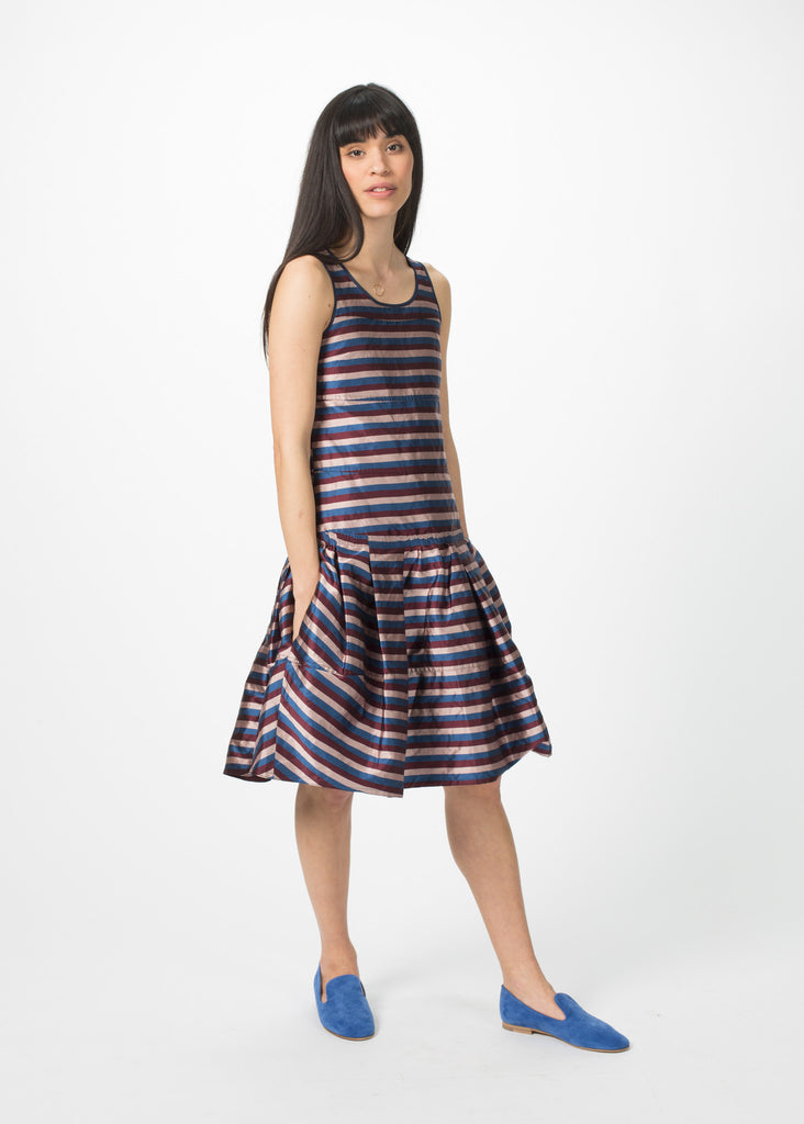 Sleeveless Multi-Pleat Dress