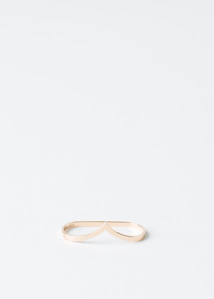 Rose Gold Double Wise Ring