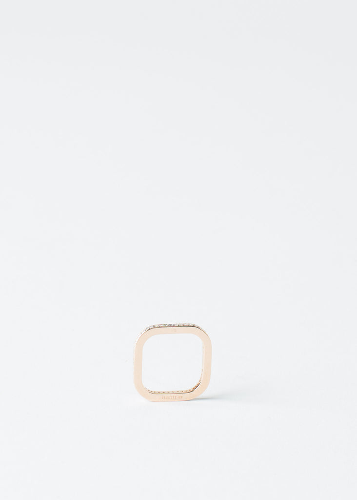 Rose Gold Diamond TV Ring