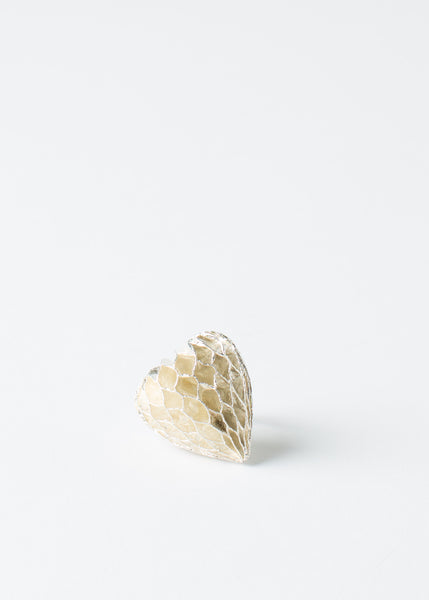 Cocktail Paper Heart Ring