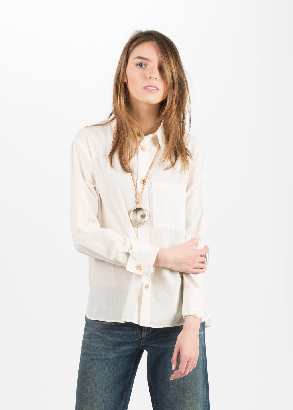 Simon Miller SS16 Bara Shirt in Ivory from Baby & Company
