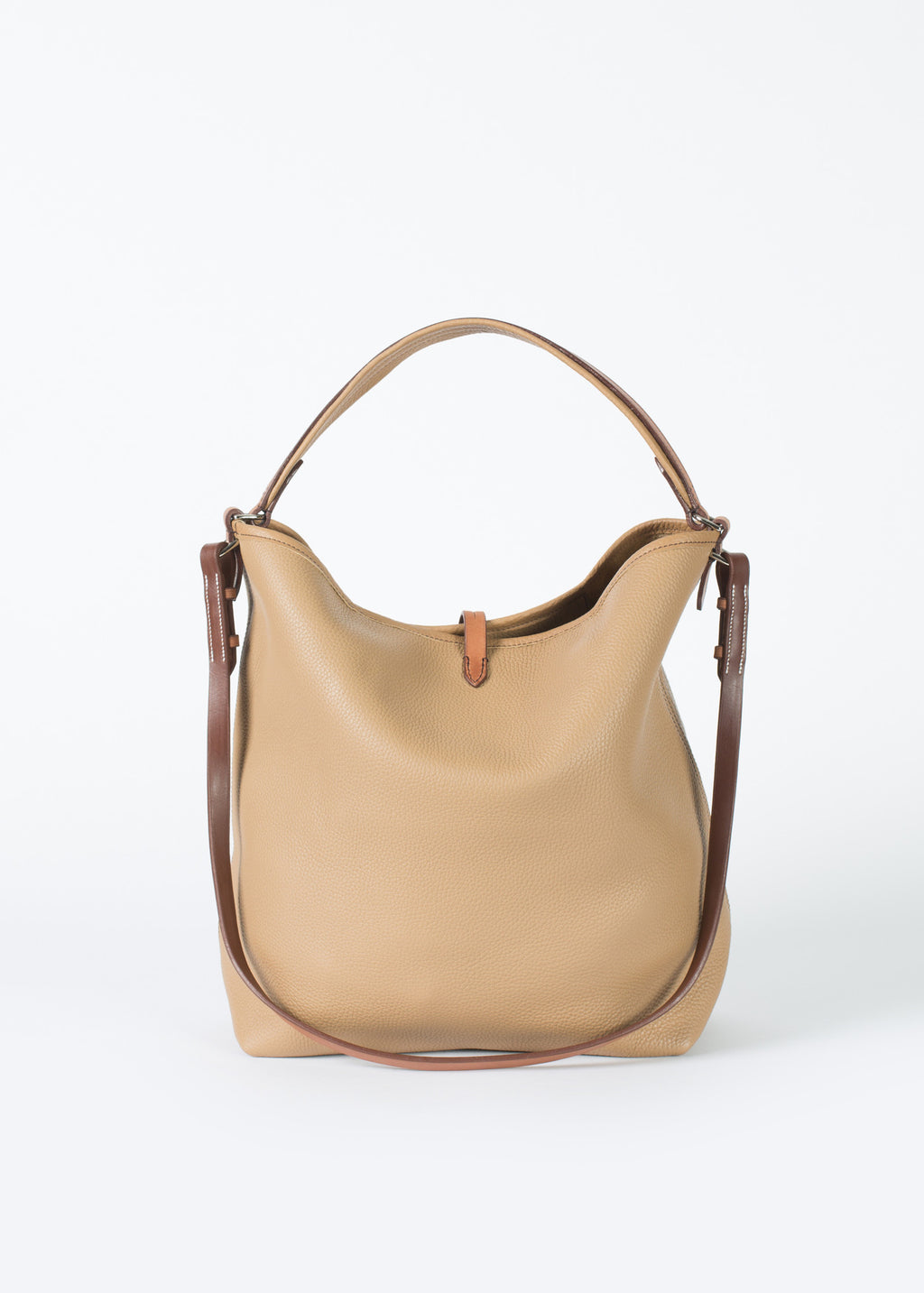 769d6219e9 Pretty Grooming Bag in Camel Tan Leather by Guibert Handbags – Baby ...