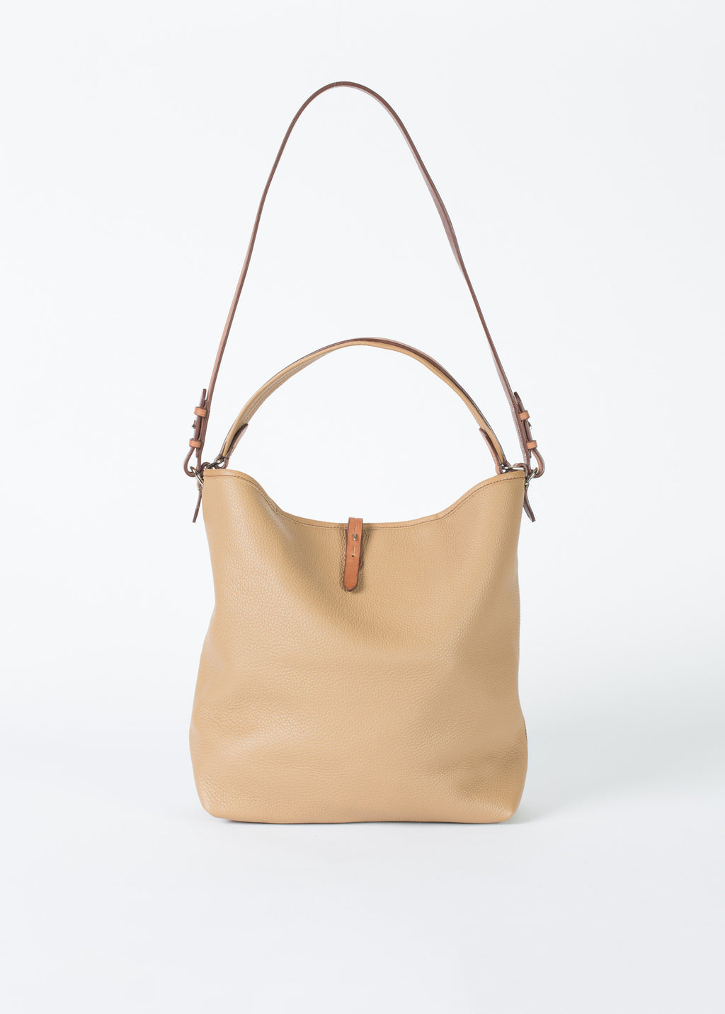 58d8f30fbd Pretty Grooming Bag in Camel Tan Leather by Guibert Handbags – Baby    Company