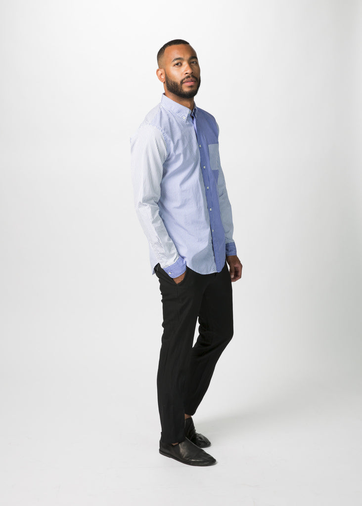 Panel Woven Stripe Shirt