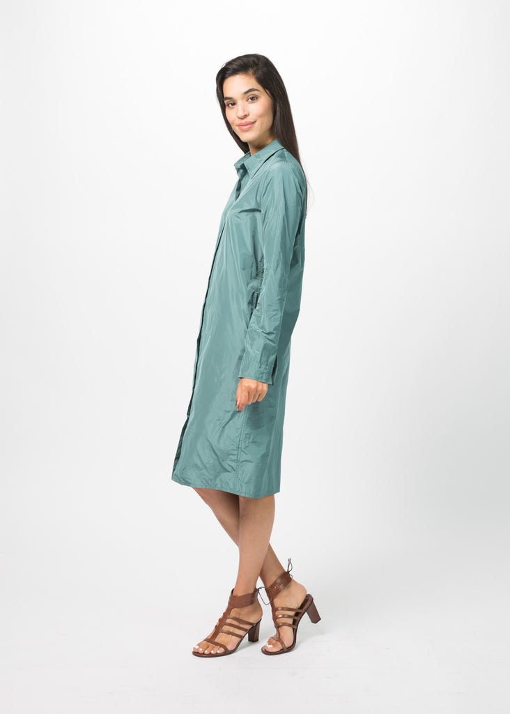 Snap-Front Shirtdress