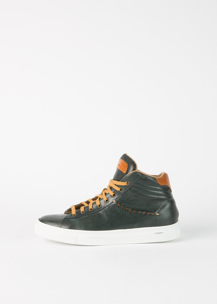 High Top Ribbed Sneaker