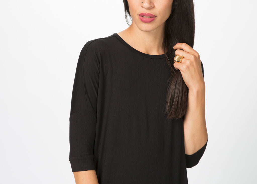 Slim Sleeve Viscose Tee