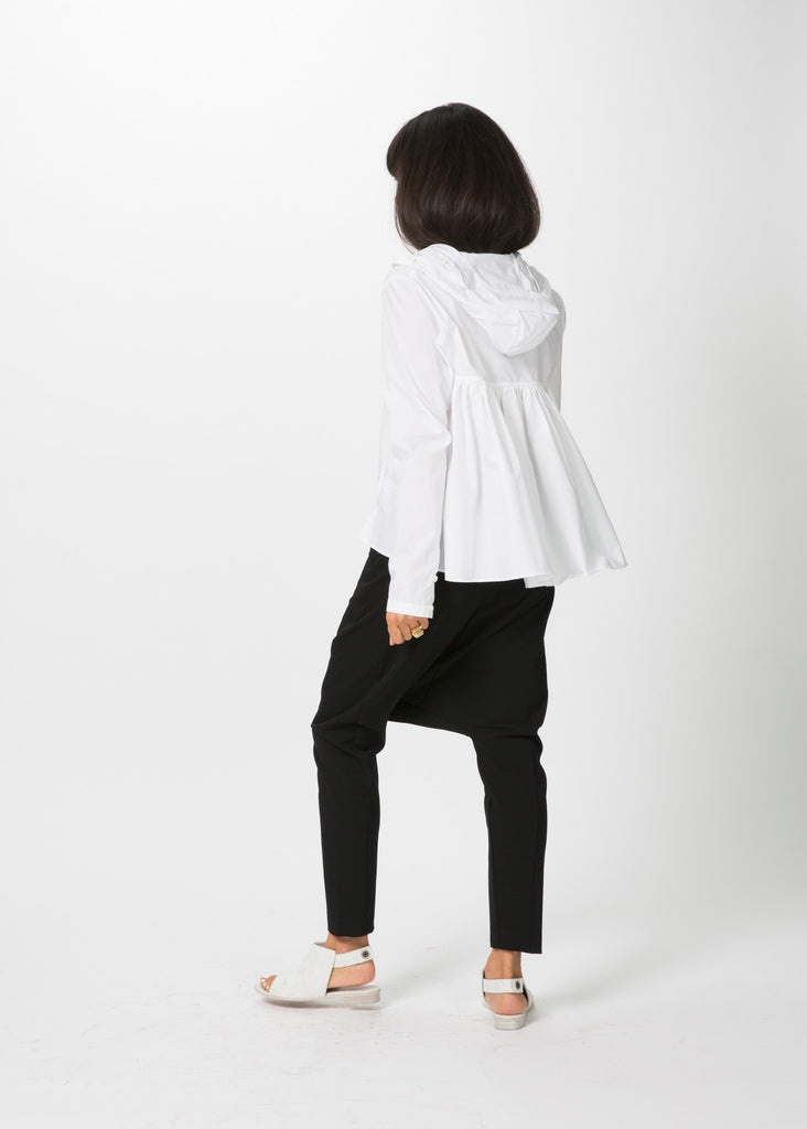 Hooded Ruffle Shirt