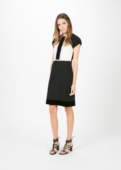 Wool Crepe Cocktail Dress