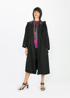 Contrast Stitch Overcoat