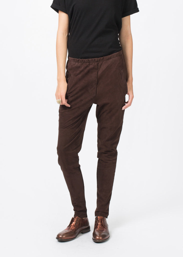 Tapered Leather Trouser