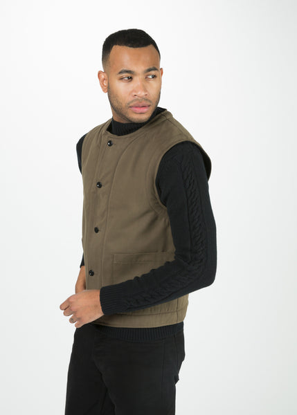 Men's Shearing Lined Drill Cotton Vest
