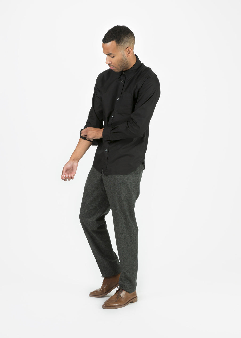 Slim Soft Wool Trouser