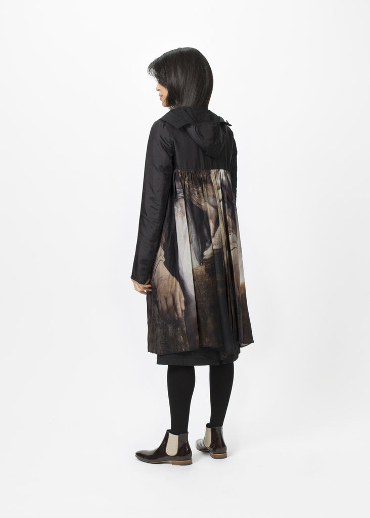 Reversible Pleated Painting Coat