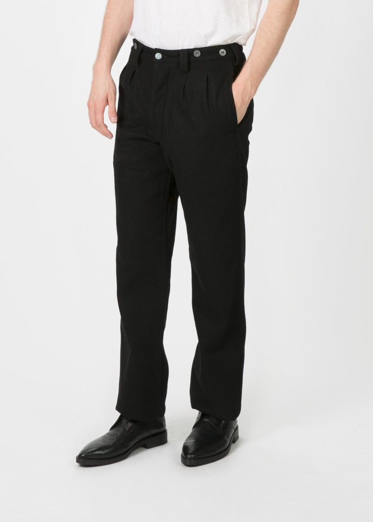 Pleated Wool Chino