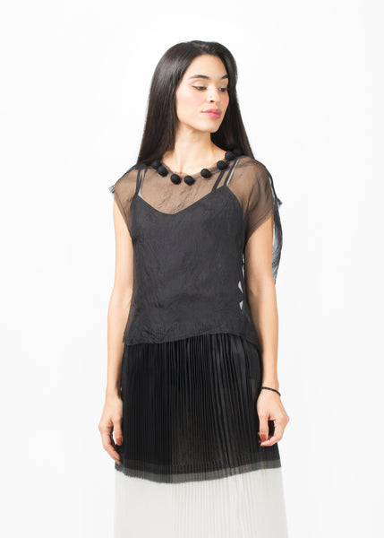 Sheer Pom Pom Top