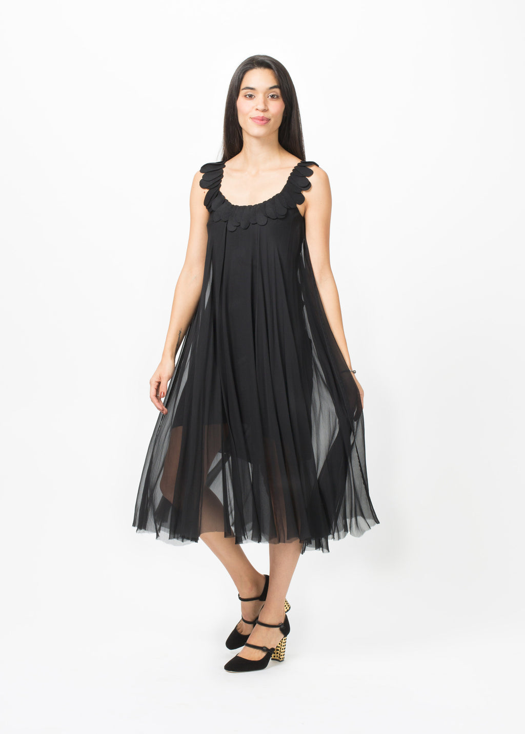 Petal Strap Chiffon Dress