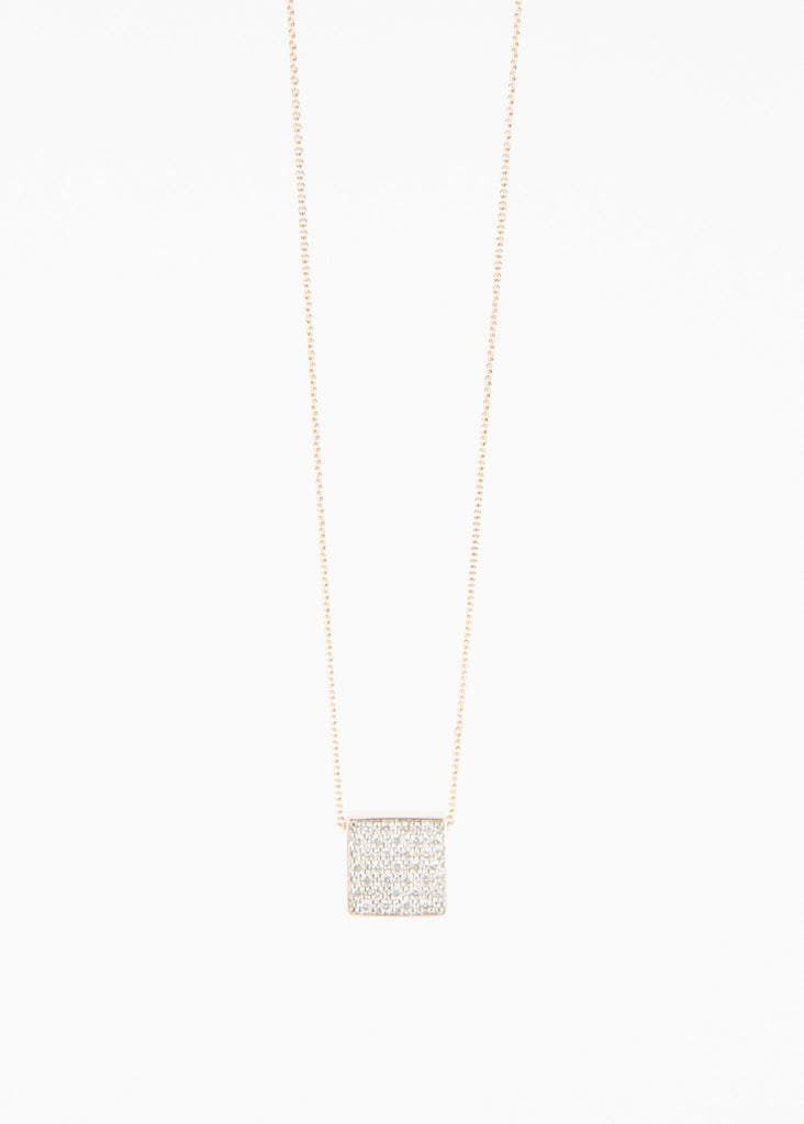 Diamond Ever Square Necklace