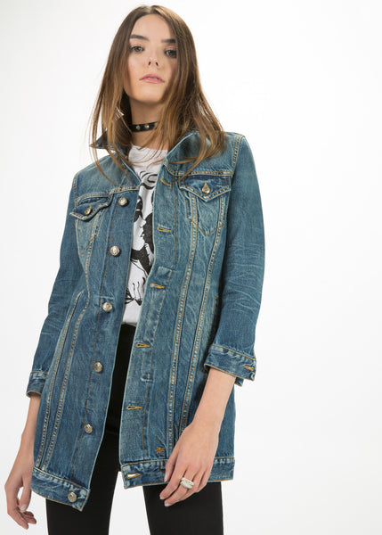 Long Tailored Trucker Jacket