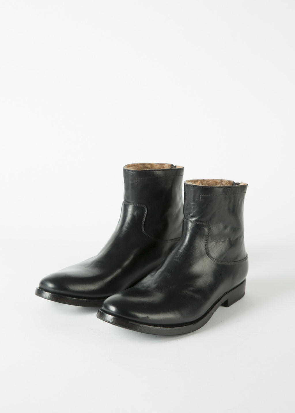 Shearling Western Zip Boot