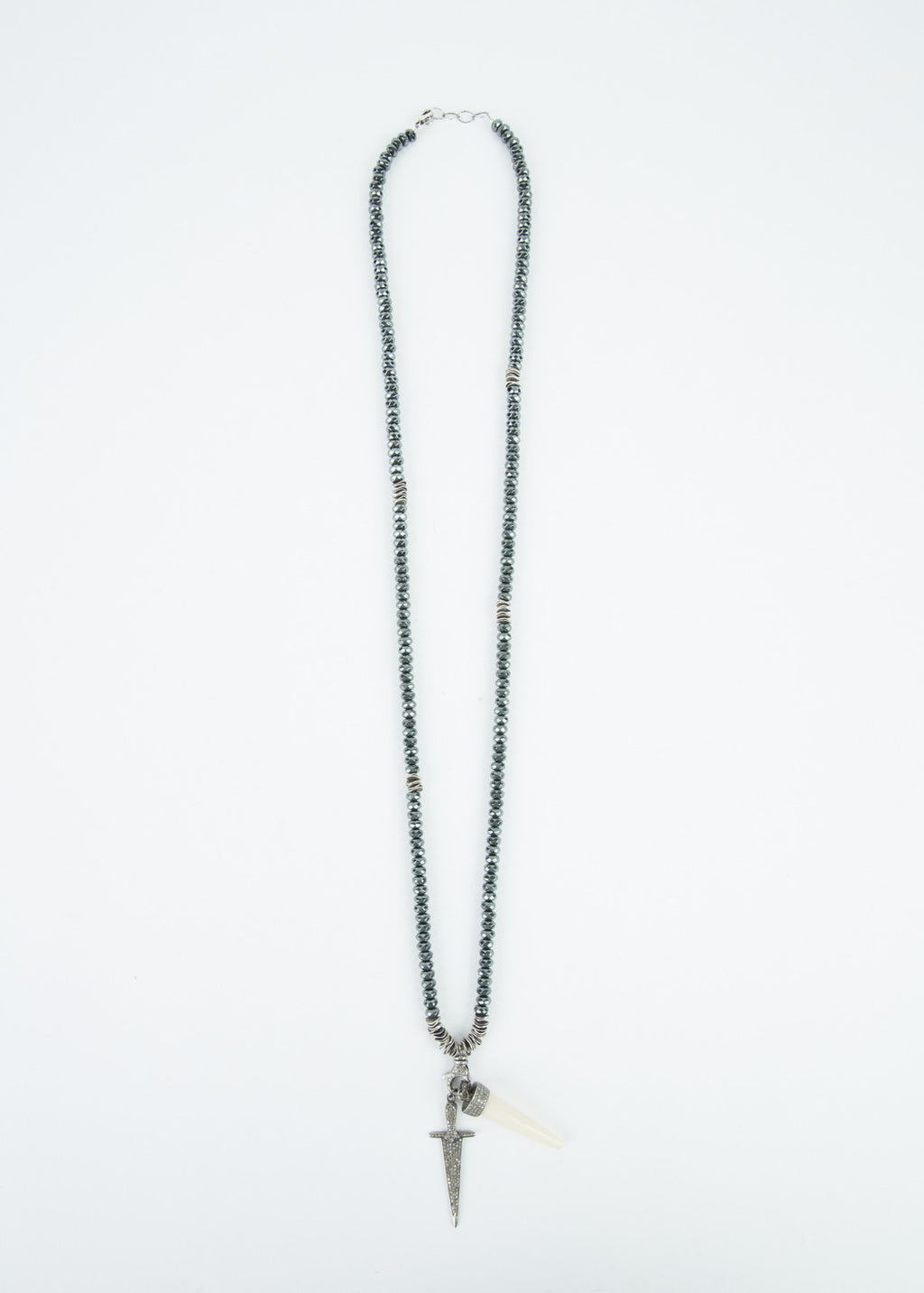 Sword and Tusk Diamond Necklace