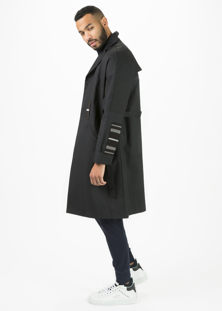 Laminate Trench Coat