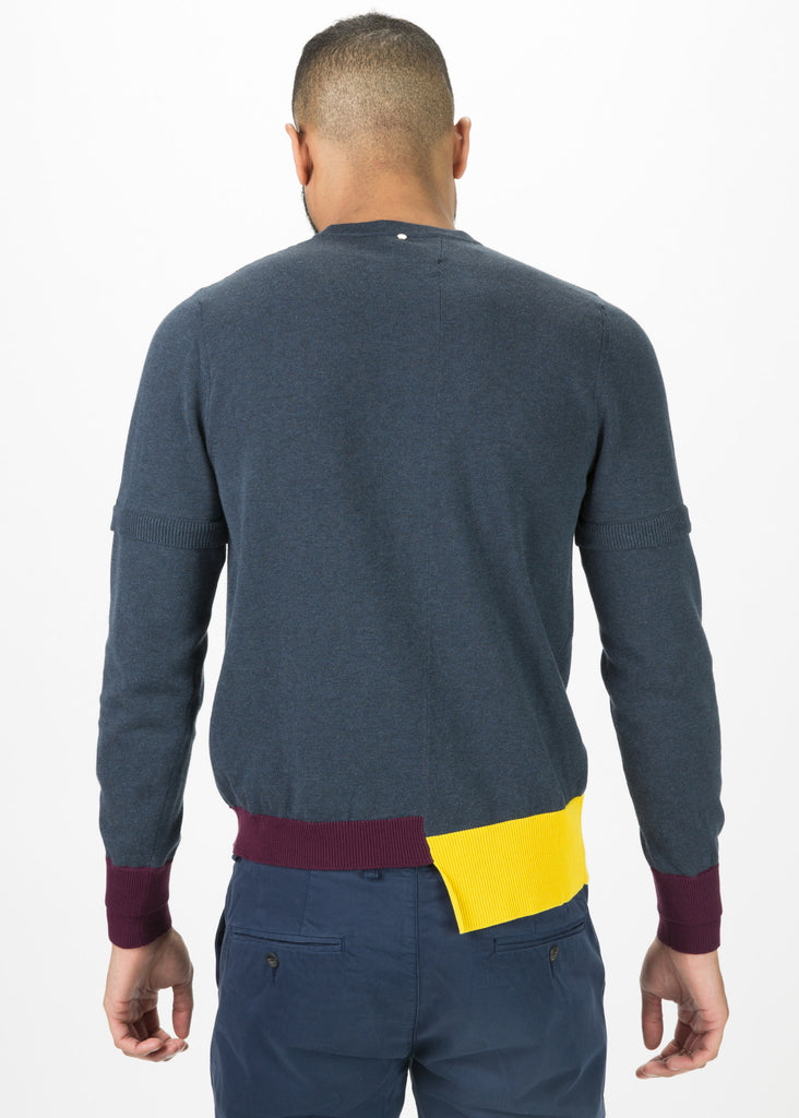 Overlay Crewneck Sweater
