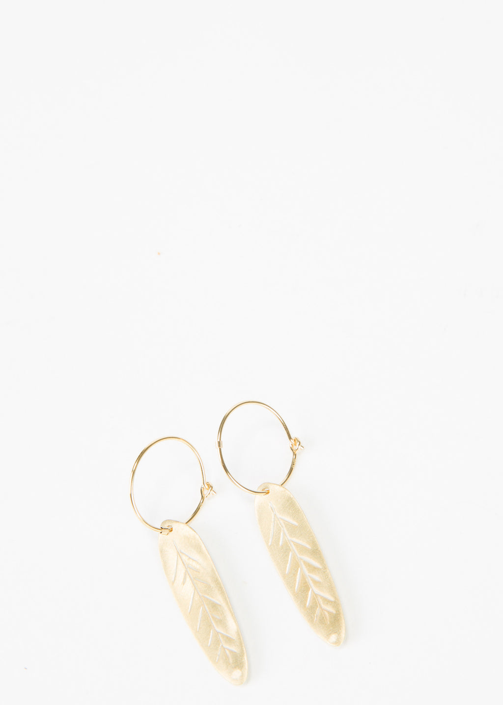 Clam Feather Earrings