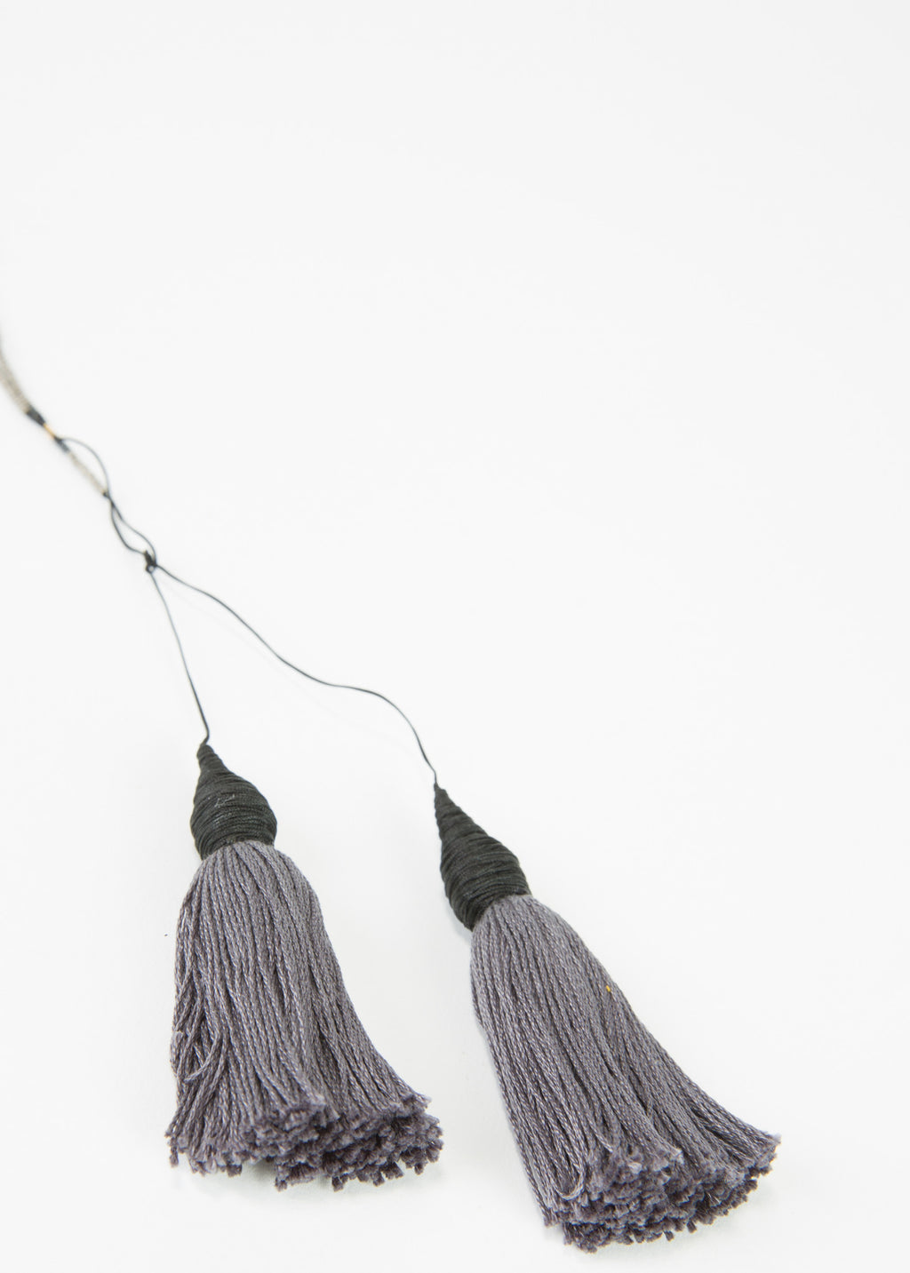 Twin Tassel Beaded Necklace