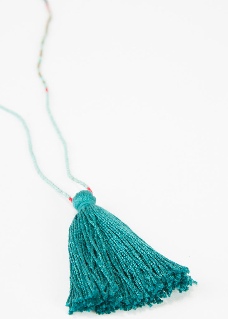 Single Tassel Beaded Necklace