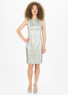 Shimmer Tweed Fitted Dress
