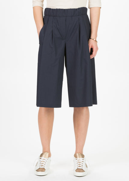 Pleated Culotte Shorts